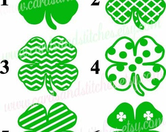 Clover Vinyl Decal - Shamrock Decal - Laptop Decal - Vinyl Decal - Yeti Decal OR Clover Iron-on - Shamrock Iron-on - DIY Iron-on Transfer
