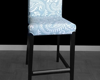 SALE - PAIR of Ikea HENRIKSDAL Bar Stool Chair Covers - Walker Spa Blue