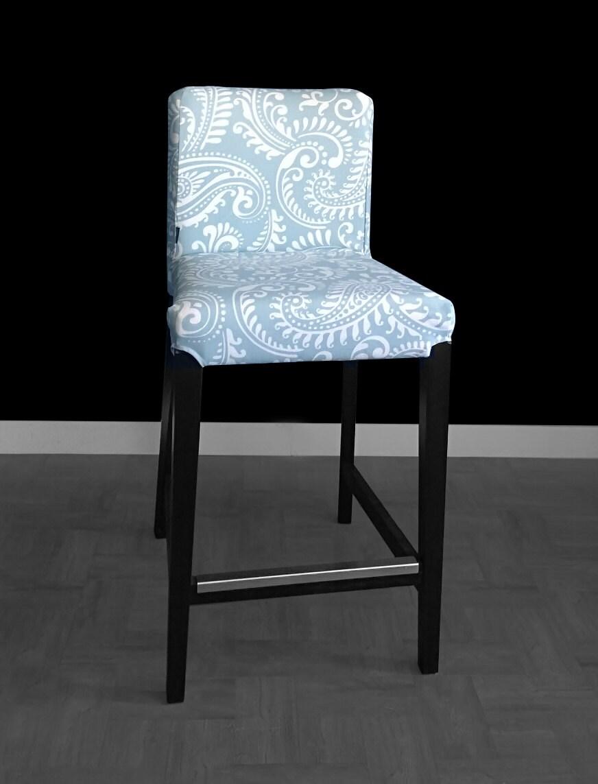 Pastel Blue Antique Style Ikea Henriksdal Stool Seat Cover