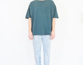 Oversize Ocean Blue Pocket Tee