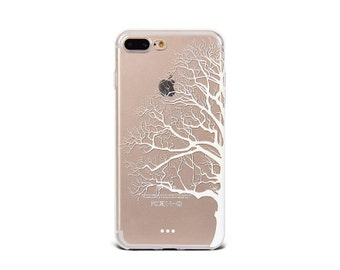 White Tree iPhone 7 Plus case clear soft silicon iPhone 6s case iPhone 5se cover - TSW7P006