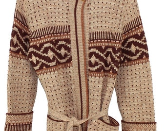 Amazing Brown Cardigan with Belt