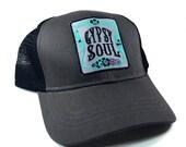 Trucker Hat, Gypsy Soul, Snapback, Womens Trucker Hat, Girls Snapback, Snapback Hat