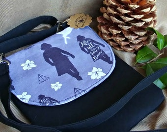 Always Crossbody Bag - Xbody - Adjustible Strap - Snape - Harry Potter - In Stock - OOAK - Ready to Ship