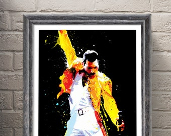 Freddie Mercury, Queen Pop Art, art print - musicmemorabelia - Giclee, Art print home wall decor