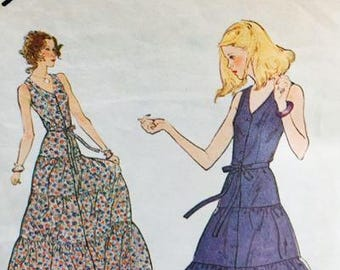 Simplicity 8888 Misses Sundress in two lengths 1979