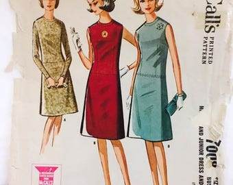 McCalls Vintage 7008 Young Fashion Dress