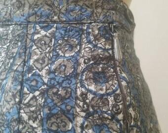 Vintage 50's High Waisted Printed Cotton Capri Pants