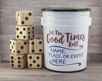 Cornhole alternative. Yardzee 20 fun games Yard dice games for Adult & Kids. Wedding. No need for bean toss bag corn hole board