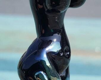 Glass Goddess Statue  - Lampwork Goddess Bead, Unusual Beads,  Goddess Sculpture SRAJD, GBUK, fhf