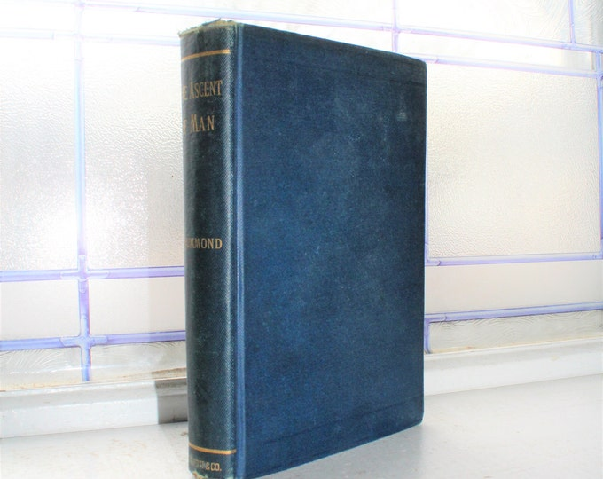 Antique 1894 Book The Ascent Of Man Henry Drummond
