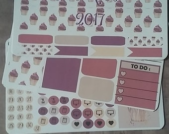 """Classic Happy Planner March Monthly Kit, """"Let them eat CUPcakes"""""""