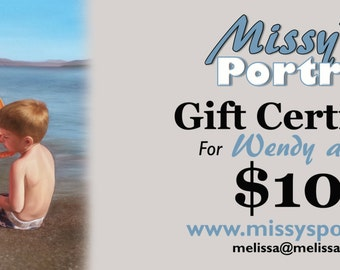 CUSTOM PAINTING - Personalized Gift Certificates - Oil Painting - Custom Portrait Gift