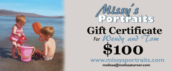 Christmas Gift - CUSTOM PAINTING - Personalized Gift Certificates - Oil Painting - Custom Portrait Gift