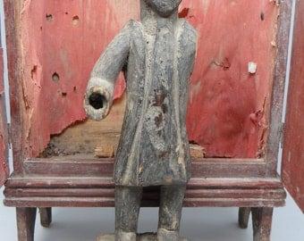 1800's Santos , Antique Hand Carved Saint, Vintage Religious Statue