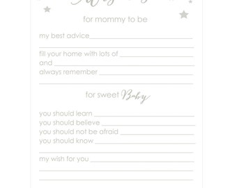 Baby Shower Mommy Advice Cards- Twinkle Party by Bloom