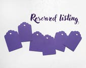 RESERVED LISTING - Set of mini  purple gift tags
