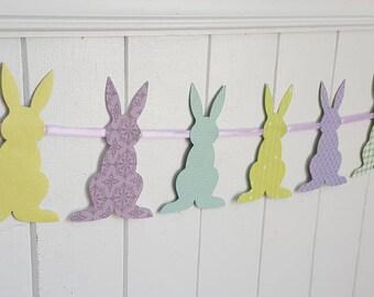 Easter Garland, Easter banner, bunny banner, bunny garland, spring garland, spring banner, Easter bunny banner