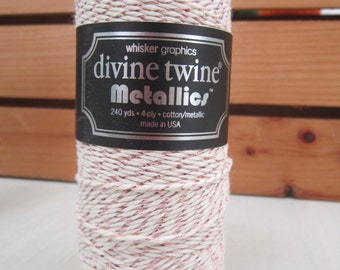 Metallic Twine ~ Rose Gold ~ Made in the USA ~ 4 ply ~ 15 yards
