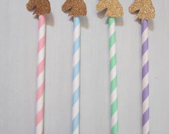 Unicorn Straws ~ Unicorn Head ~ Unicorn Party ~ Unicorn Punch ~ Unicorn Drink