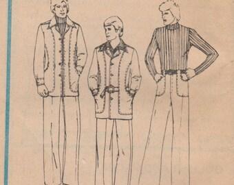 Mens 70s Jacket & Pants Pattern McCalls 4873 Size 38 Uncut
