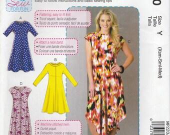 Easy Knit Dress Pattern McCalls 7382 MP220 Sizes XS, S, M (4 - 14) Uncut