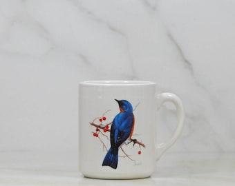 Vintage Coffee Cup 1986, National Wildlife Federation, Eastern Bluebird, Sialia Sialis, 31113, Birds, Drinking Cup, Wildlife, Mug, Glassware