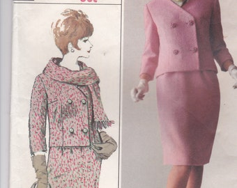 1960's Sewing Pattern - Simplicity 6312 Misses Suit Size 14 Bust 34 inch Factory Folded,  Complete