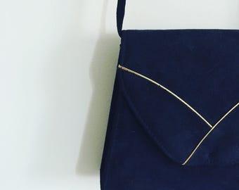 Blue Suede Vintage Bag