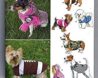 Dog Coats In Three Sizes / Original Simplicity Uncut Sewing Pattern 1239