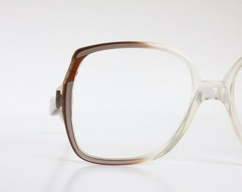 Vintage Coffee Drop Arm Eyeglass Frames