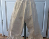French Antique Bloomers Victorian Undergarments Underwear Circa 1900 Split / Open Ladies Drawers Minor Damage