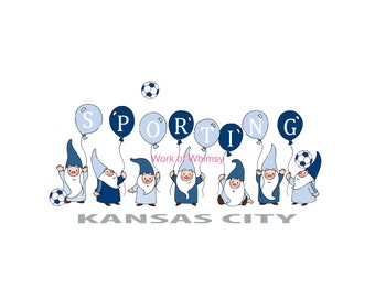 Sporting Kansas City Gnome Soccer Print - 8x10 - Ready to frame - Archival ink and paper - Great Christmas gift