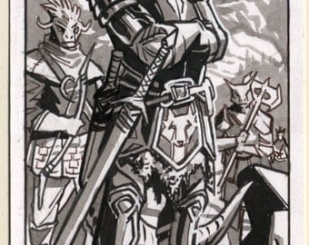 Argonian Militia Inktober Sketch Card