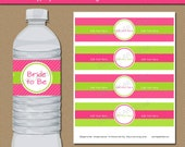 Bridal Shower Water Bottle Labels, PRINTABLE Bridal Shower Water Labels, Bachelorette Party Decorations, Baby Shower Water Bottle Stickers