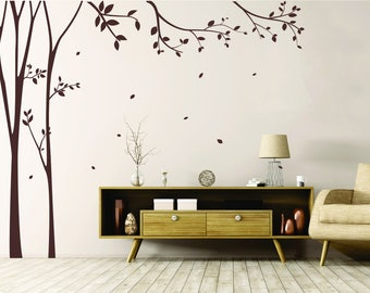 Trees With Falling Leaves wall decal - Vinyl Wall Art