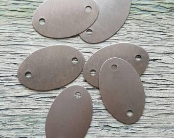 Vintaj Raw Arte Metal {2-Hole Oval Bracelet + Pendant Blank} DIY JEWELRY - 6 Pcs #SHW0007 *LIMITED Stock*