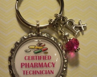 Pharmacy Technician key chain with charms
