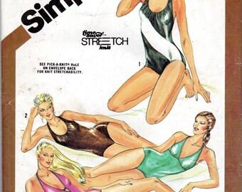 "Women's Swimsuit Pattern One-piece - Size 14, Bust 36"" - Simplicity 9920, uncut"