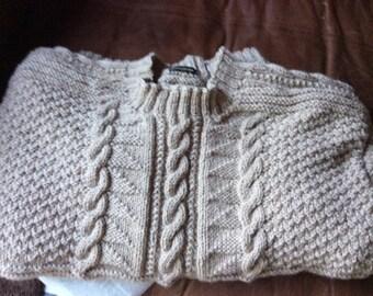 Alpaca Gansey - Traditional Fishermans Knit Sweater - Guernsey Sweater - Gansey Sweater - Fishermans jumper- Handmade to order
