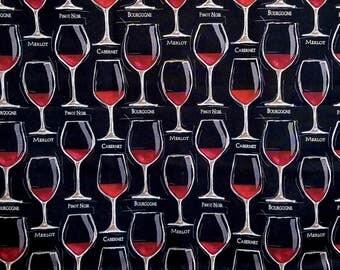 Fine Wine - Wine Glasses on Black