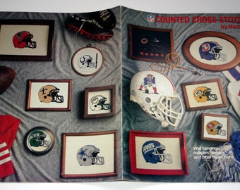 NFL Counted Cross Stitch book #401 by Nomis 1987