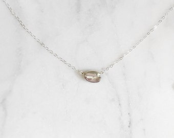 Coffee Bean Necklace // Sterling Silver // Coffee Jewelry // Coffee Lover Jewelry