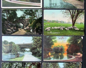 16 Antique Prospect Park Scenic Postcards, Historic Brooklyn, 1907-1923, Not for the Experienced Collector/Instant Collection