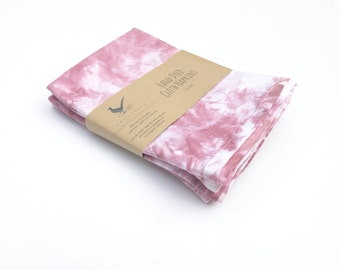 """Hand Dyed Pink Cloth Napkins Set of 4 Dinner Dusty Rose Napkins Cotton Napkins 16"""" Blush Pink Napkins Lunch box napkins"""