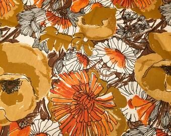SPRING SALE--Vintage Vera Napkins, Vera Neumann, Orange Flowers on Brown, Beautiful, Look New