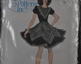 Square Dance Pattern - Misses' sizes 6/8/10 - UNCUT - Authentic Patterns 309