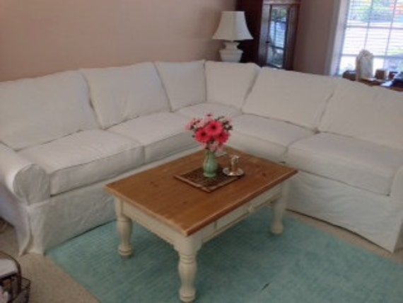 PDF Measuring Guides for 2 piece 11 Cushion Sectional Slipcover- 1 Arm Cornering Sofa- 1 Arm Love Seat