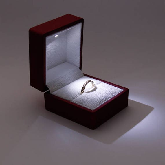 engagement ring box proposal ring box wedding ring box