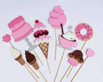 Sweet Shop Shoppe Party Photo Booth Props - Perfect for a Little Princess Party, Ice Cream Parlor